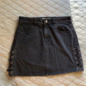 Pacsun Black Jean Skirt